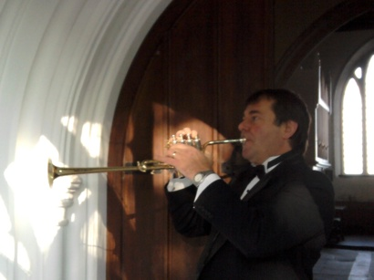 funeral trumpet in church